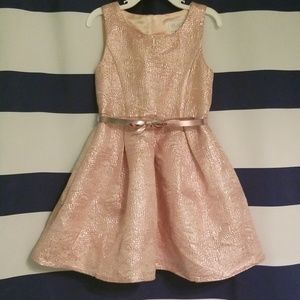 Pink Gold Big Girl Dress